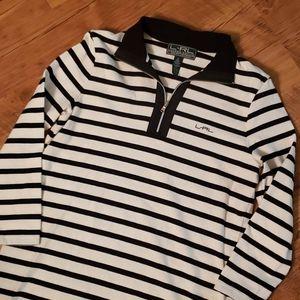 Ralph Lauren active wear striped polo. Size Medium
